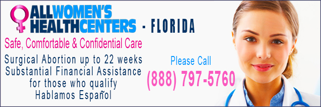 All Women's Health Centers - abortion clinics in Florida. Surgical abortion up to 22 weeks.