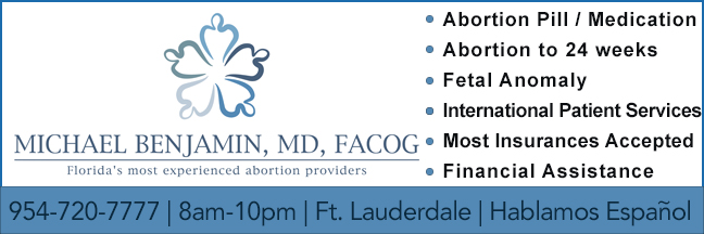 Dr. Benjamin abortion clinic in Ft. Lauderdale, Florida