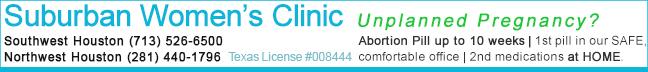 Suburban Women's Clinic - abortion clinics in Houston, Texas offering abortion pill, ru486